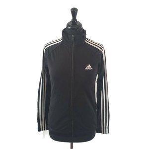 Adidas Men's Track Jacket Black White 3 Stripe